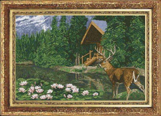 Haft krzyżykowy Leśna bajka, zestaw do haftu krzyżykowego xxx