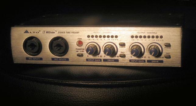 Ламповий стерео приамп для микрофона ALTO tub preamp/
