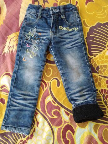 Теплые джинсы 86 рост