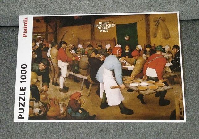 PUZZLE 1000 Piatnik Bruegel Brueghel Breughel Chłopskie Wesele