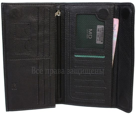 Мужской кошелек и купюрник бизнес-класса из натуральная кожа MD.