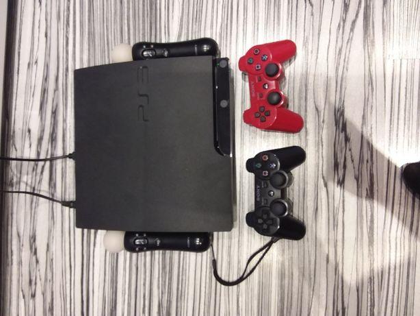 Konsola PS3 slim 500gb plus Gta 5, fitness, start the party