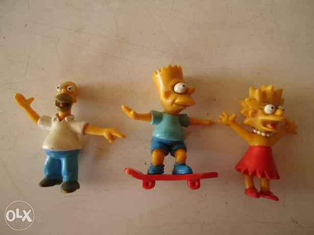 3 bonecos dos Simpson - Action Man - Selva Sobre Rodas