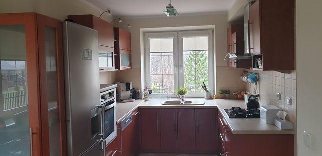 Kuchnia kompletna - lodówka zmywarka piekarnik - Blum - front drewno