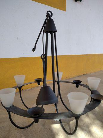 Candeeiro teto ferro preto rustico ikea