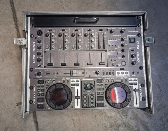 Zestaw DJ Pionner DJM 3000 + CMX 3000 + skrzynia transportowa