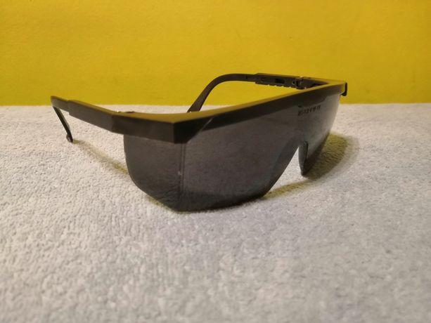 Okulary czarne sportowe zabudowane ochrona oczu młodzieżowe