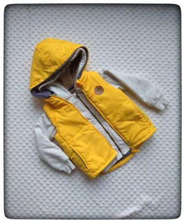 86 92 bezrękawnik kamizelka żółta Pepco