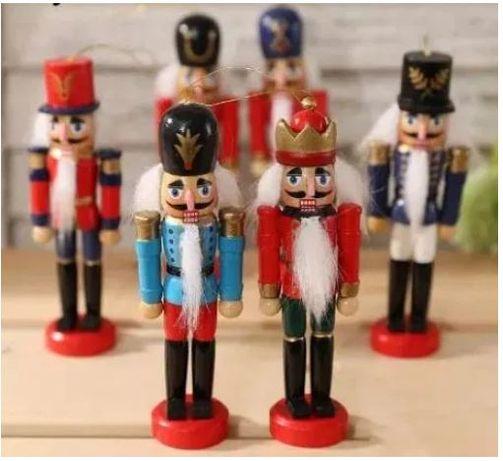 Щелунчики новогодние деревянная елочная игрушка 12 см