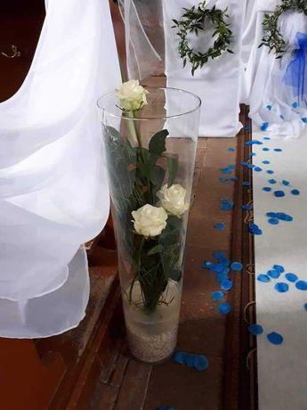 Tuby szklane 70 cm slubne dekoracje