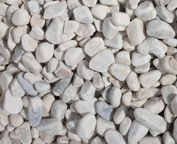 Kamień otoczak POLSKI biały pastelowy 8-30mm