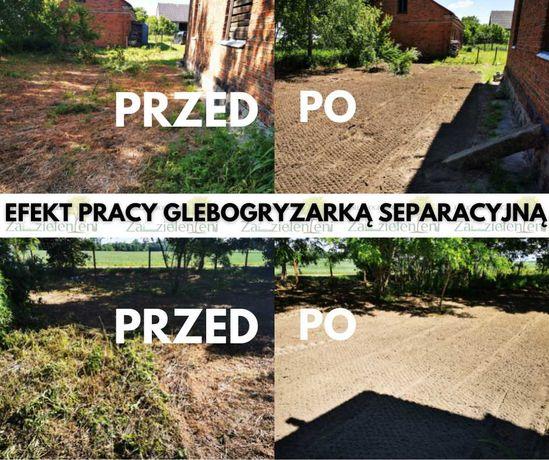 Glebogryzarka separacyjna/ Usługi ogrodnicze
