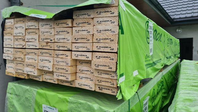 Certyfikowane drewno konstrukcyjne C24 SKANDYNAWIA