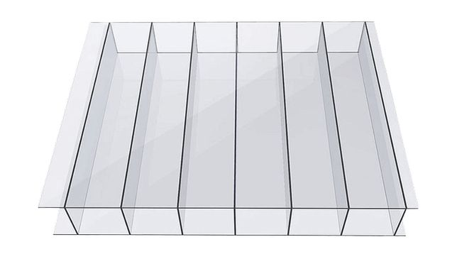 Poliwęglan komorowy 6 mm bezbarwny, 2.1×6 m, UV