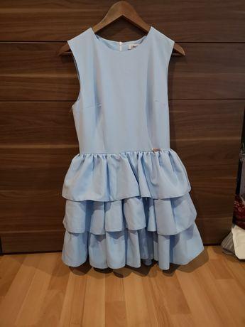 Błękitna sukienka s. Moriss