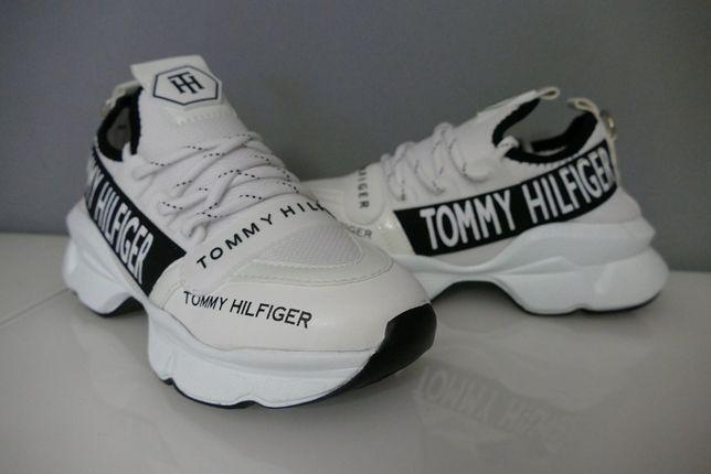Tommy Hilfiger nowe adidas-y -sneakersy na platformie 38