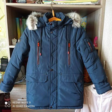 Удлинённая куртка на мальчика