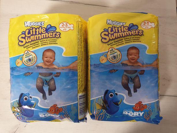 Подгузники для плавания Huggies Little Swimmers 2-3 3kg-8kg 2х12 штук