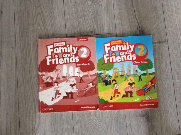 Тетрадь и книга по английскому Family and Friends 2 часть