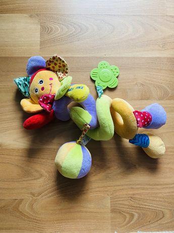 Swietna zabawka sensoryczna maskotka na pałąk wózka spacerówki