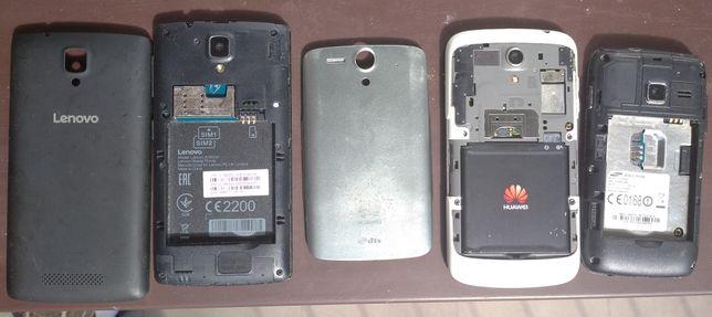 Telefony smartfony złom Lenovo Huawei Samsung niesprawne na części