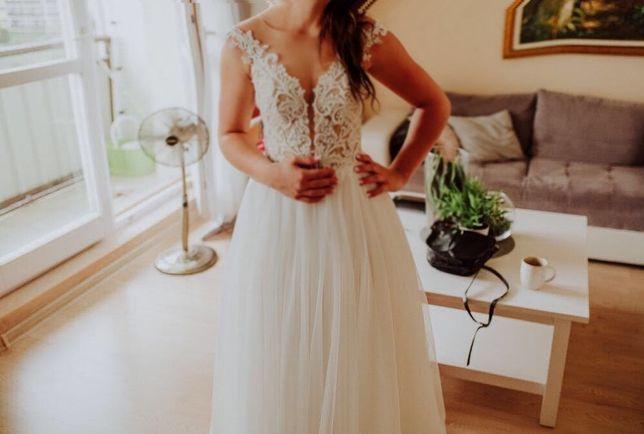 Rustykalna suknia ślubna 38