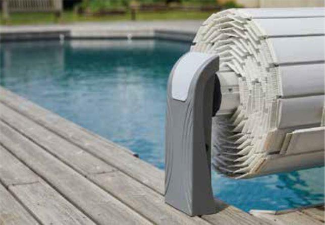 Cobertura de Segurança piscinas modelo Aero laminas brancas de 3x4m