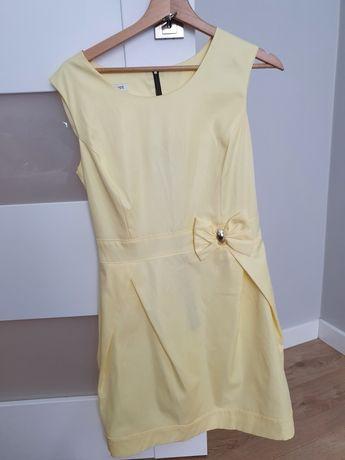 Żółta elegancka sukienka
