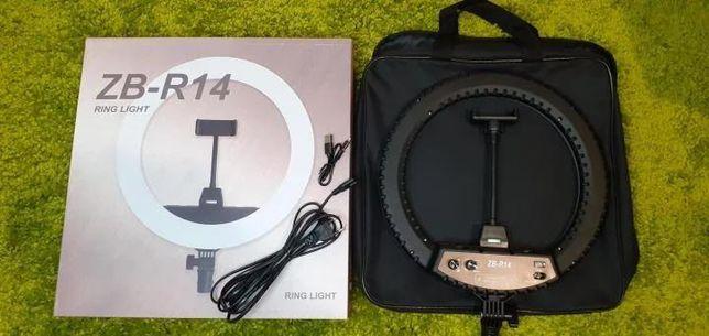 Кольцевая лампа LED ZB-R14 с креплением для телефона, 220В, сумкой и