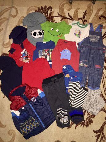 Пакет вещей на мальчика 1,5-2года/86-92см