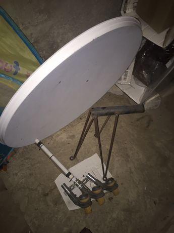 Продам спутниковую тарелку, крепление и тюнер.