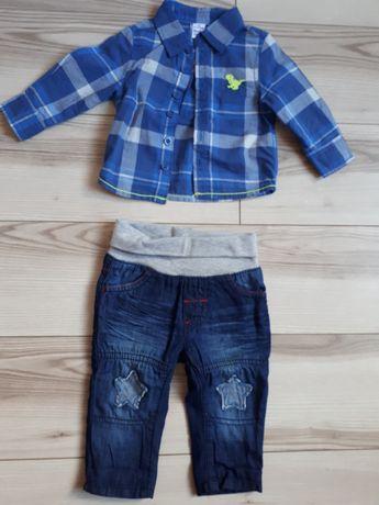 Komplet spodnie koszula 56 62