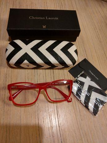 Christian Lacroix czerwone oprawki  okulary oryginalne