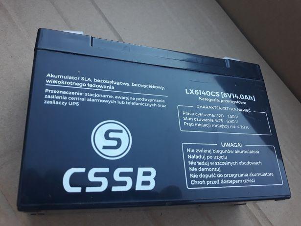 6V 14Ah akumulator żelowy nowy