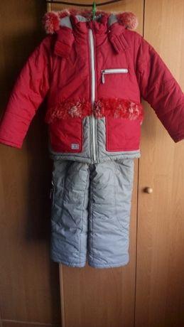 Зимний комбинезон детский с курткой на 4-5 лет