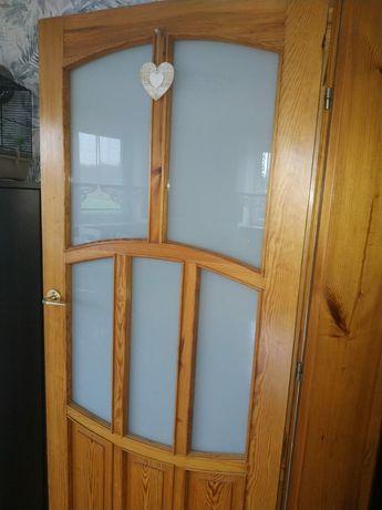 Drzwi drewniane sosnowe,drzwi sosna cena za 1 szt. :80 P, L