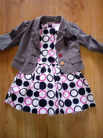 Śliczny zestaw sukienka i żakiet h&m rozm.92