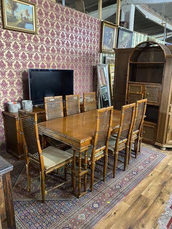 Jadalnia / stół +8krzeseł + komoda + regał / antyki stylowy wegrow