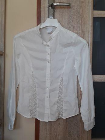 Biała elegancka koszula coccodrillo dla dziewczynki 158cm