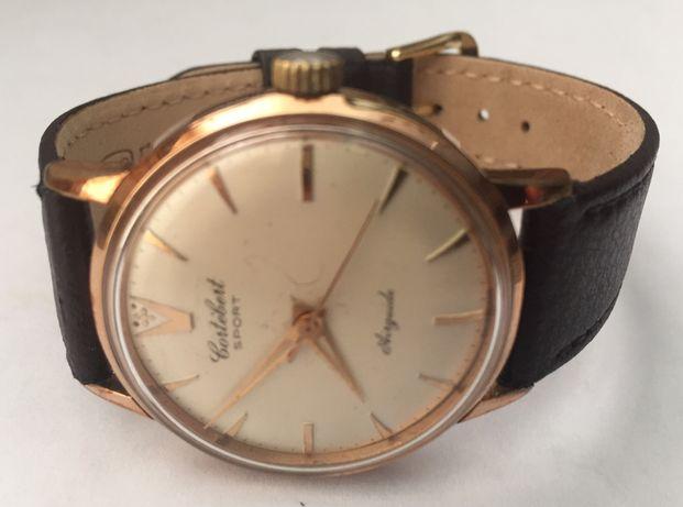 Relógio a corda manual, antigo, de coleção, Cortebert Sport Airguide