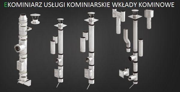 Wkłady kominowe z montażem. Kominiarz. Usługi kominiarskie.