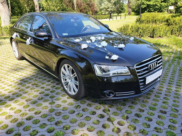 Auto do ślubu  Audi A8 long do ślubu