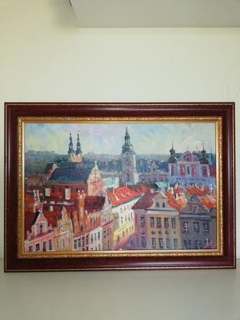Obraz olejny- Panorama Poznania