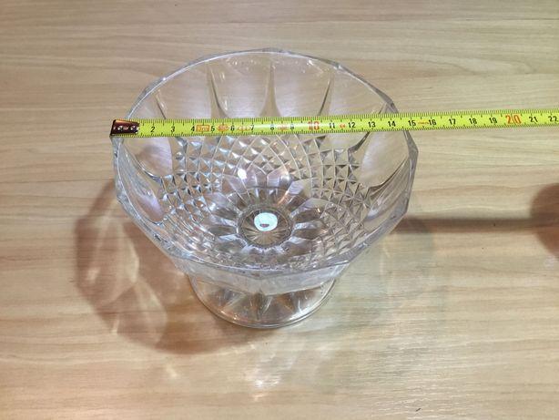 Taça bomboneira antiga em vidro