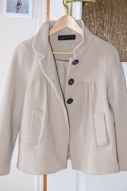 krótki płaszcz zimowy Zara