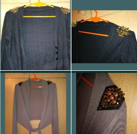 Narzutki modne z ćwiekami pagony M 2 sztuki
