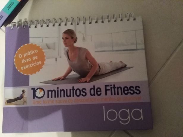 Livro de ioga de exercícios de fitness