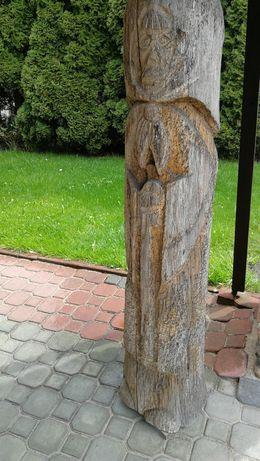 Rzeźba dębowa 148 cm.