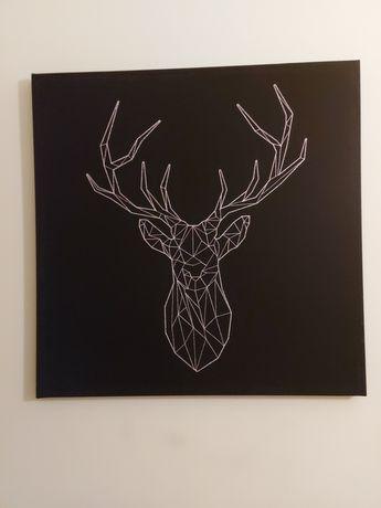 Obraz ze srebrnym jeleniem IKEA