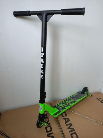 Трюковый самокат GG120 Зелёный, алюминий, +2Пеги, Усиленный до 100 кг